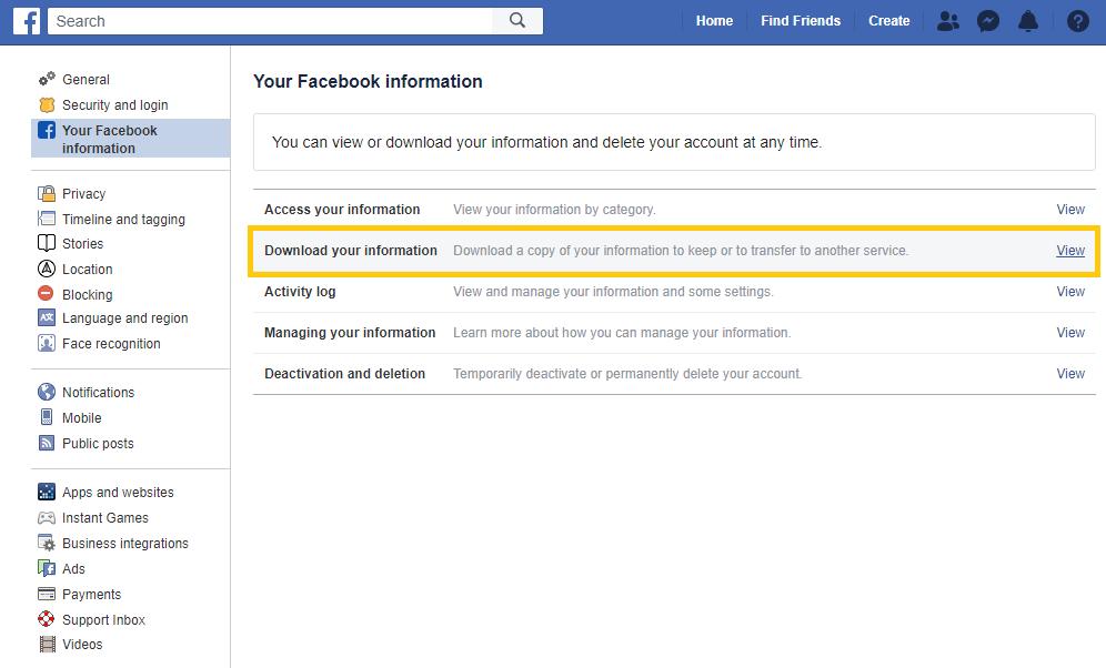 pobieranie wiadomości z fb i messengera