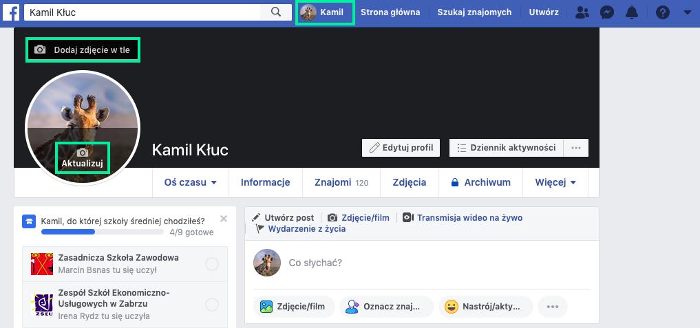 jak dodać zdjęcie profilowe na facebooku