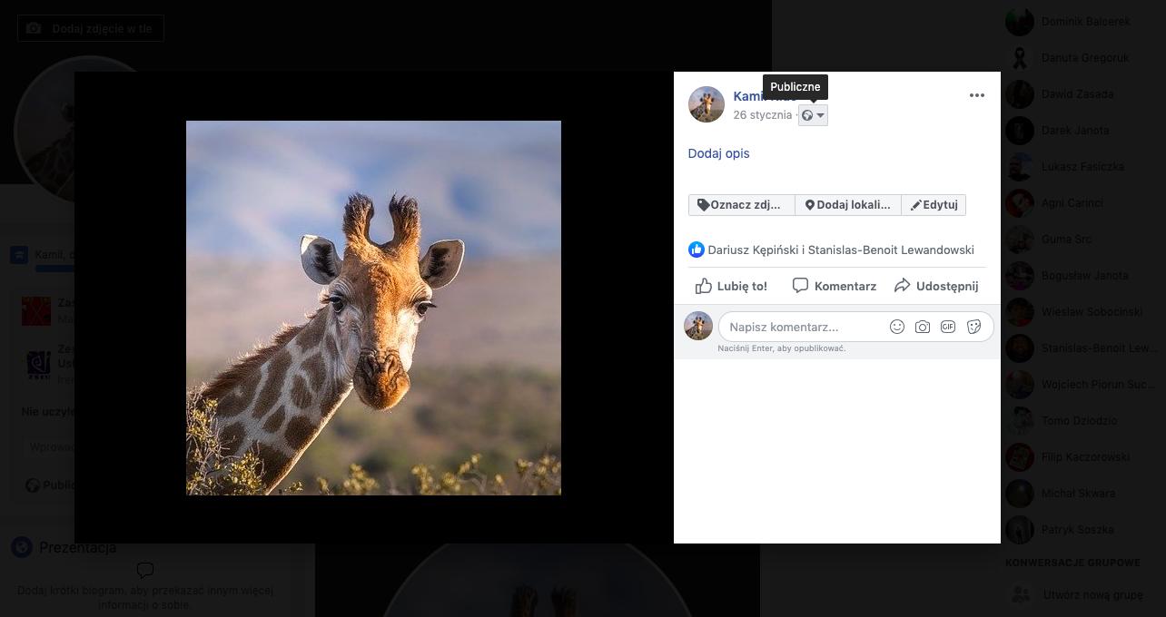 zmiana zdjęcia profilowego na fb krok 2