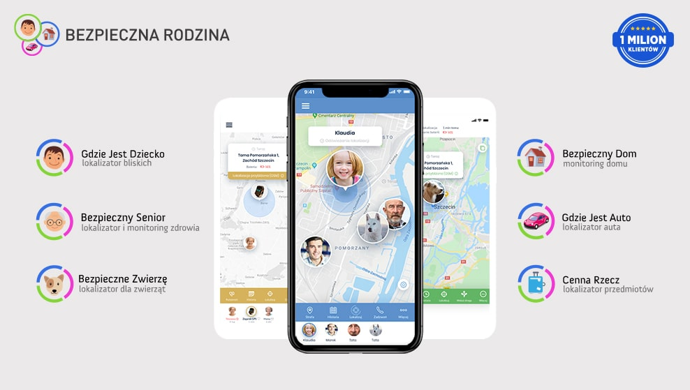 aplikacja bezpieczna rodzina na smartfonie